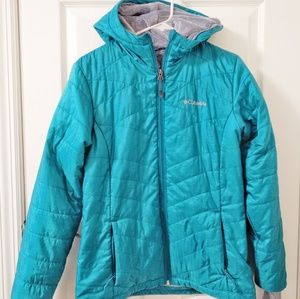 Columbia women's Omni heat Jacket M Teal & grey